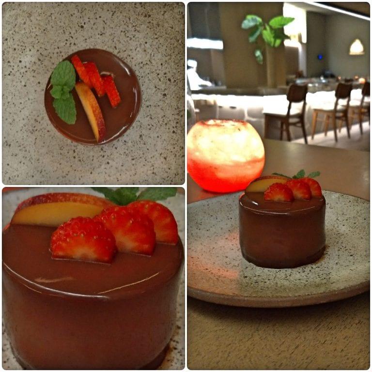 Shiso - segunda sobremesa - cremoso de chocolate amargo