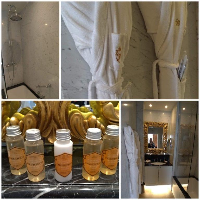Detalhes do banheiro do hotel