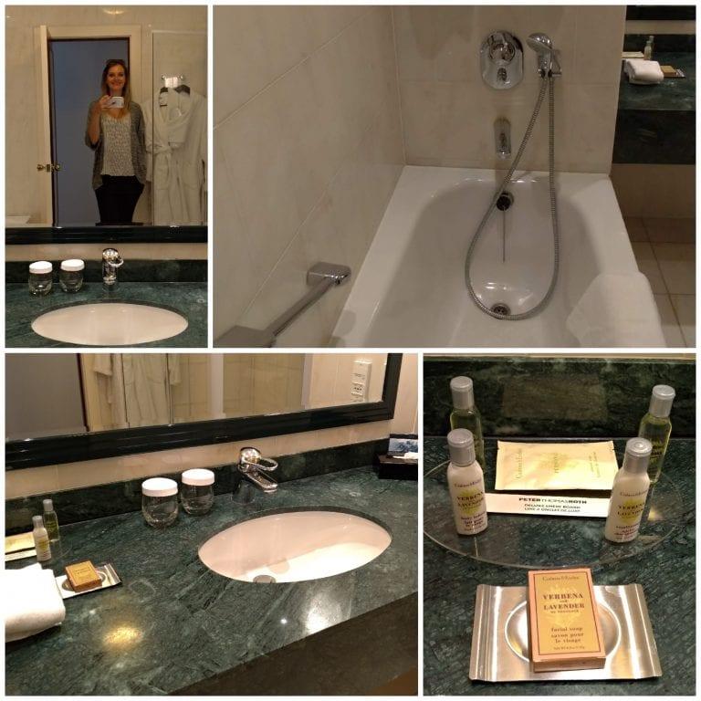 Banheiro do Hilton Antwerp Old Town