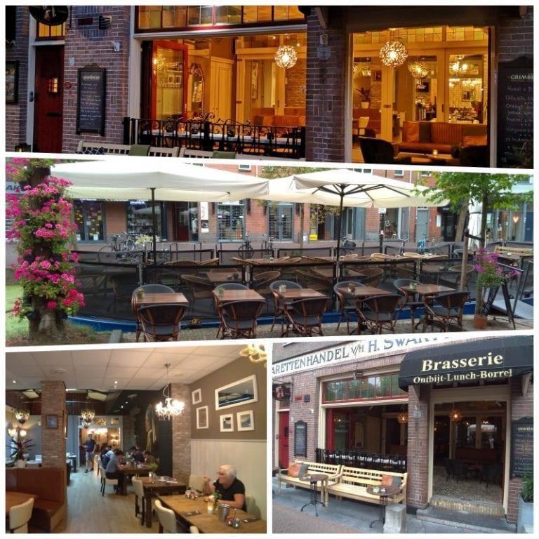 Brasserie: ambientes externo e interno do café da manhã