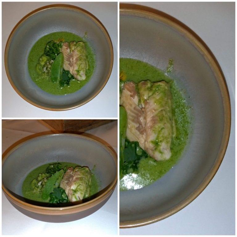 Peixe ao molho de brócolis