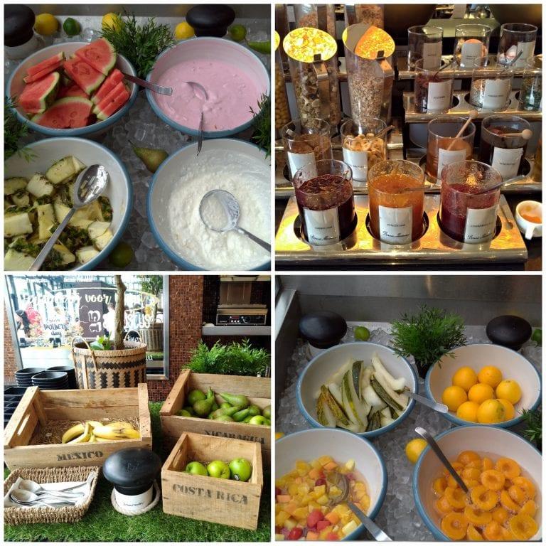 Frutas, geleias, iogurtes e cereais