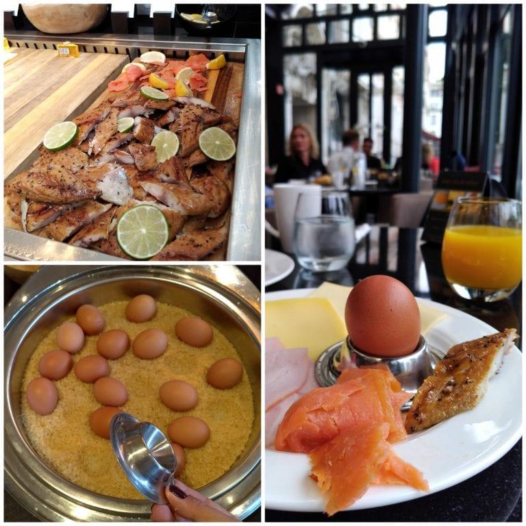 Peixes defumados, ovos quentes e nossa mesa de café da manhã