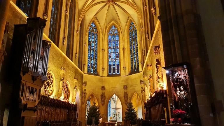 Detalhes do interior da Catedral de Colmar