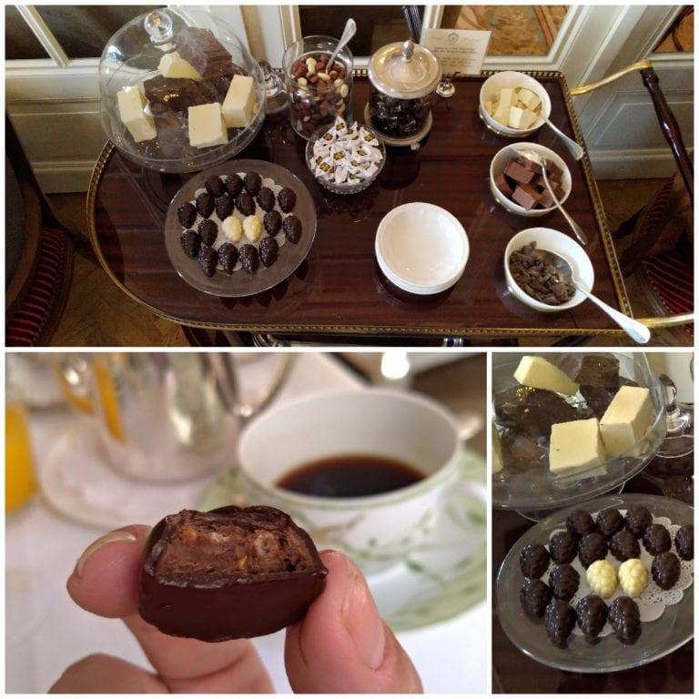 Um carrinho cheio de chocolates belgas!