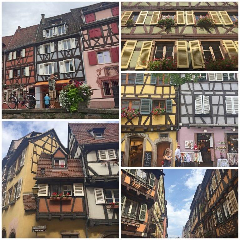 Fachadas das casas em estilo enchaimel de Colmar