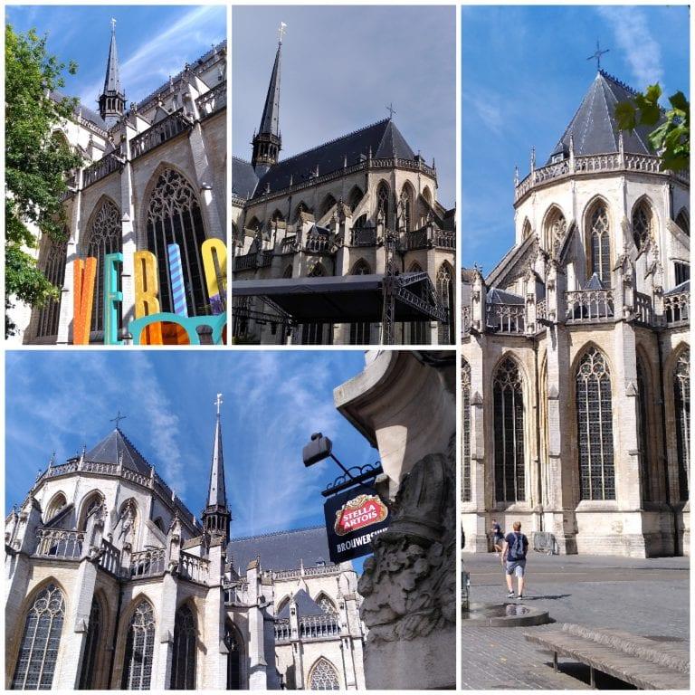 Exterior da igreja de São Pedro, no Grote Markt de Leuven