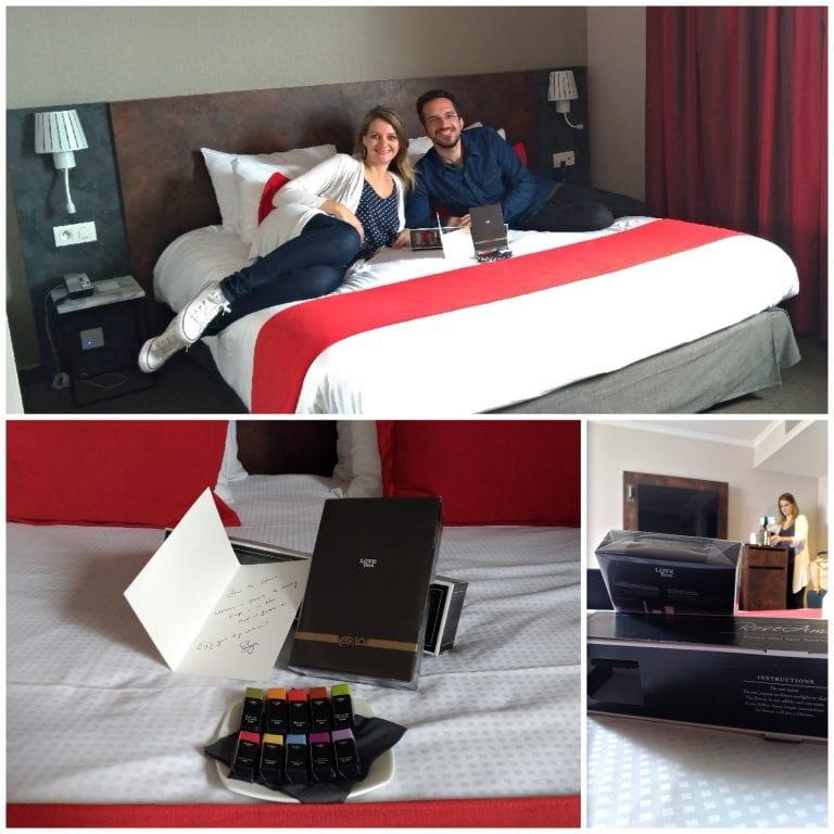 """Mimos na chegada ao quarto: chocolates Galler e uma """"Love Box"""""""