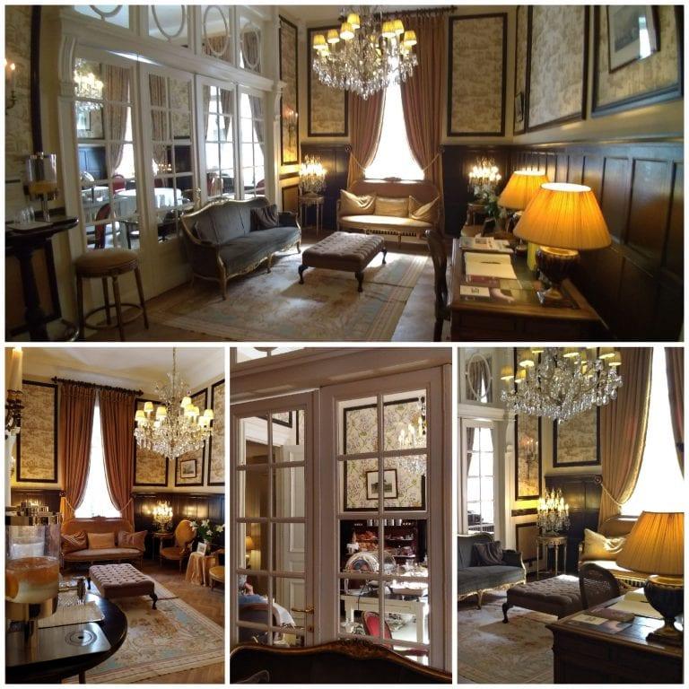 Primeiras impressões do belíssimo e bem decorado salão interno