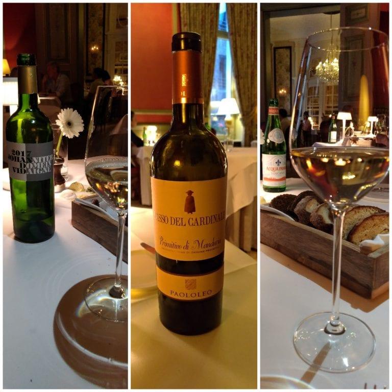 Alguns dos vinhos que harmonizamos ao longo da noite