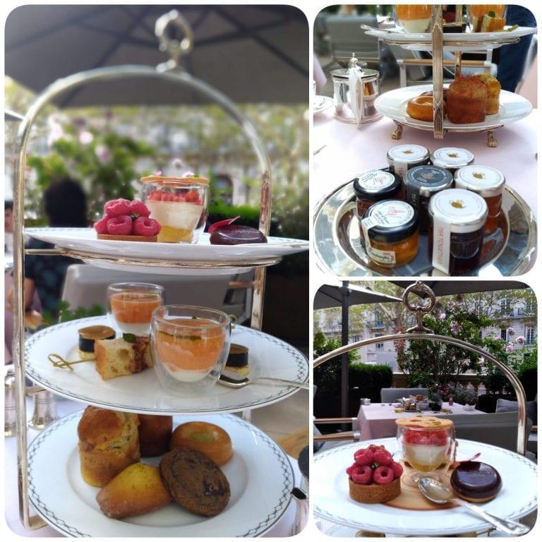 Afternoon Tea The Peninsula Paris - estrutura em prata repleta de delícias