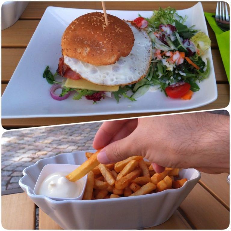 Grand Café Lord Nelson - hamburguer com batata frita