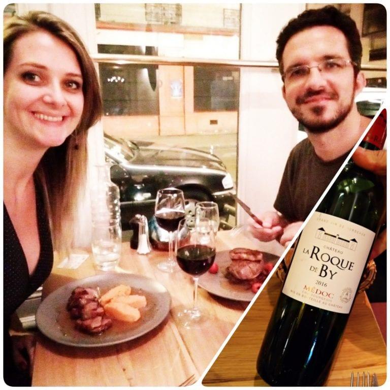 L'Atypic - curtindo nossos pratos e um bom vinho