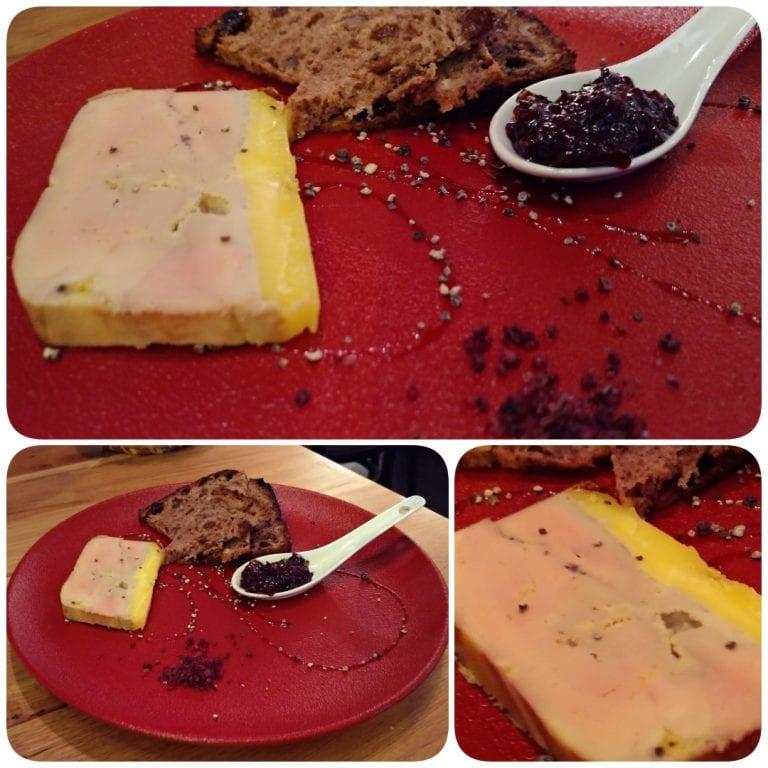 L'Atypic - entrada Foie Gras mi-cuit maison chutney aux fruits de saison toast aux figues et noix