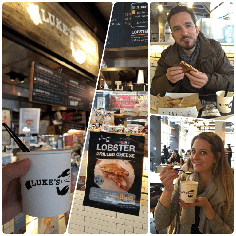 Row NYC - Que tal um sanduíche de lagosta e clam chowder no Luke's Lobster do City Kitchens