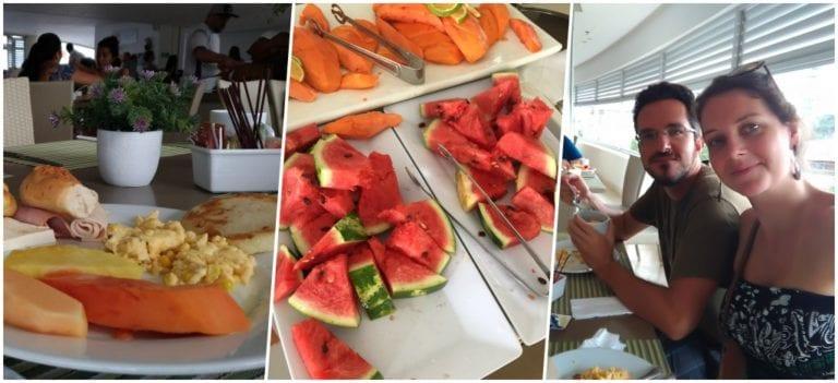 Buffet de café da manhã do Corales de Indias