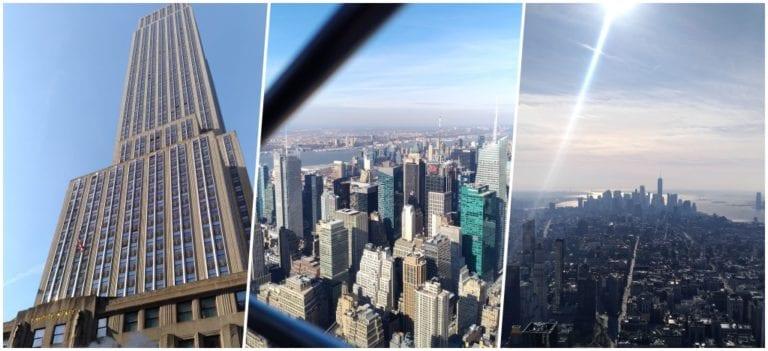 Subindo ao topo do emblemático Empire State Building