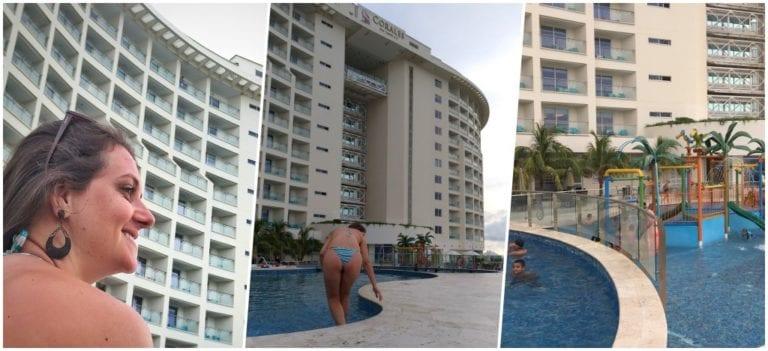 Hotel e estrutura de piscinas
