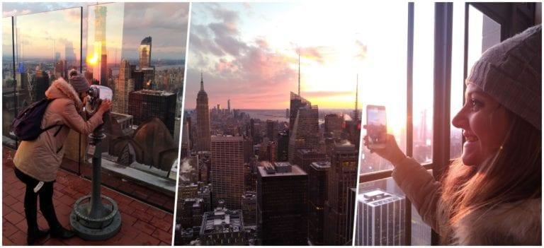 Do alto do Top of the Rock com o CityPASS New York