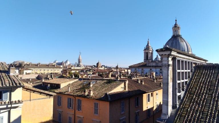 Vista do terraço do Hotel Raphael em Roma