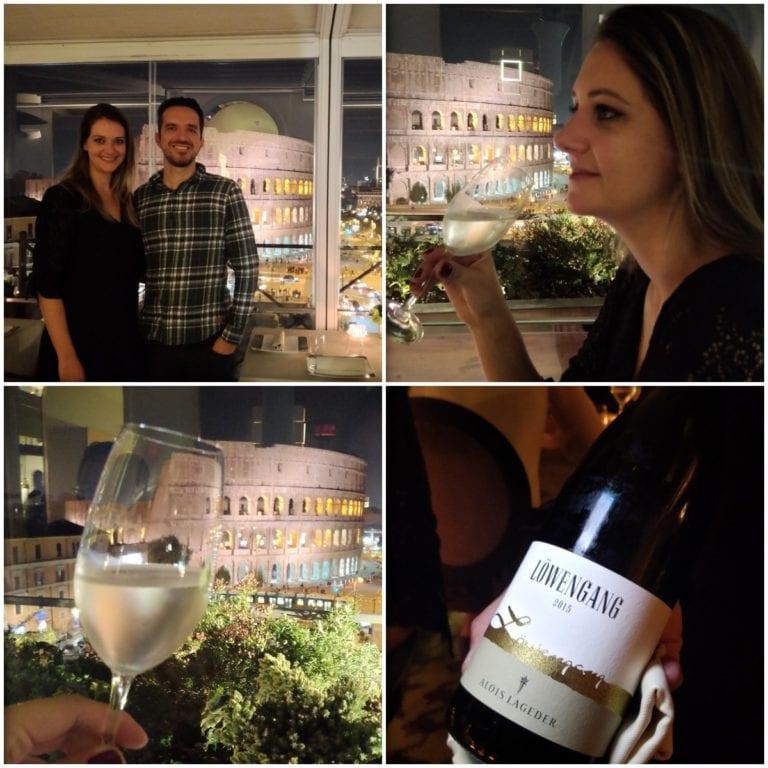 Jantar no restaurante Aroma: 1 estrela Michelin e essa bela vista de Roma