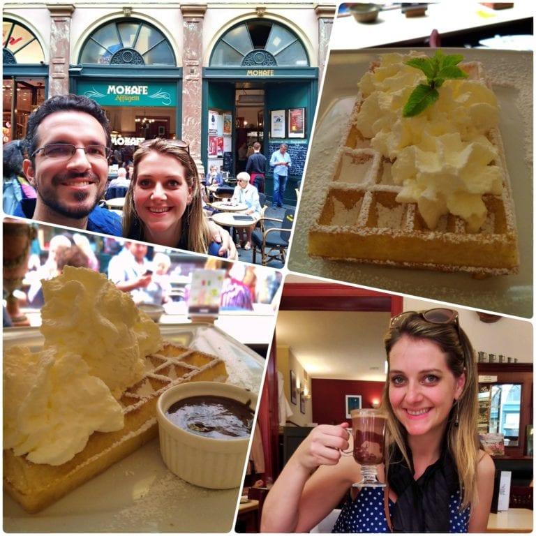 Restaurantes em Bruxelas: Mokafé Taverne serve um dos melhores waffles da cidade