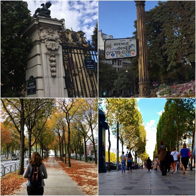 Avenida Champs-Élysée e Avenue Montagne