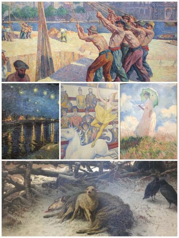 Detalhes de obras importantes do Museu D'Orsay