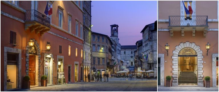 Onde ficar em Perugia: Fachada do Hotel Locanda della Posta