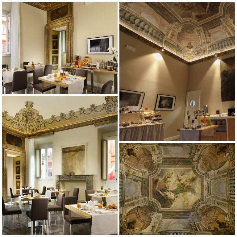Salão de café da manhã do hotel Locanda della Posta