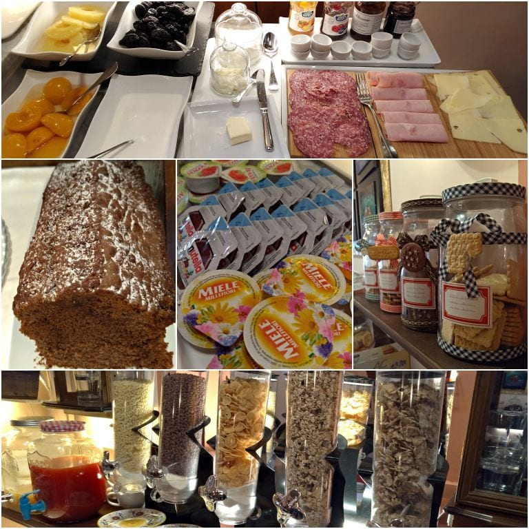 Buffet de café da manhã do Hotel Pallotta Assisi