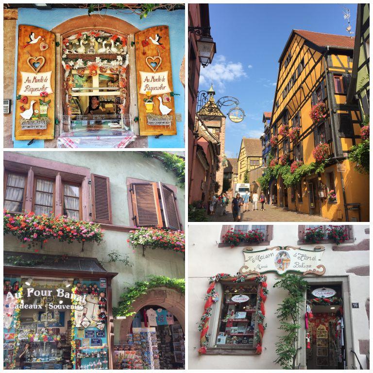 Detalhes das coloridas fachadas de Riquewihr
