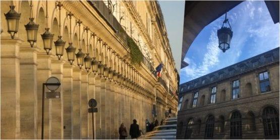 Rue de Rivoli e seus famosos arcos
