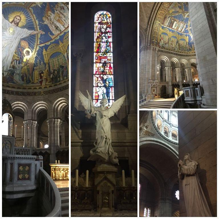 Visita ao interior da Basílica de Sacre Coeur