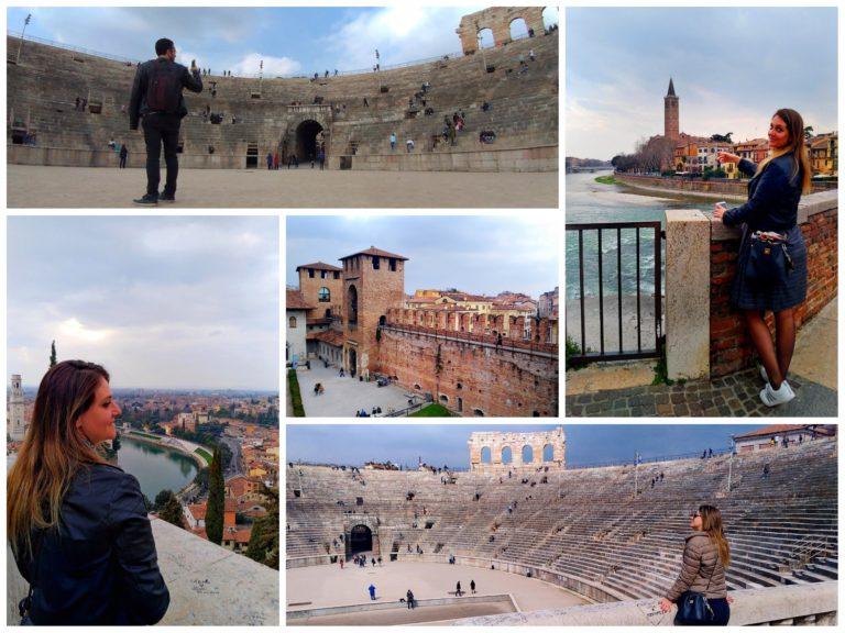 Onde ficar em Verona. Alguns pontos turísticos de Verona: Arena de Verona, Ponte Pietra, Museo di Castelvecchio e a vista do Castel San Pietro