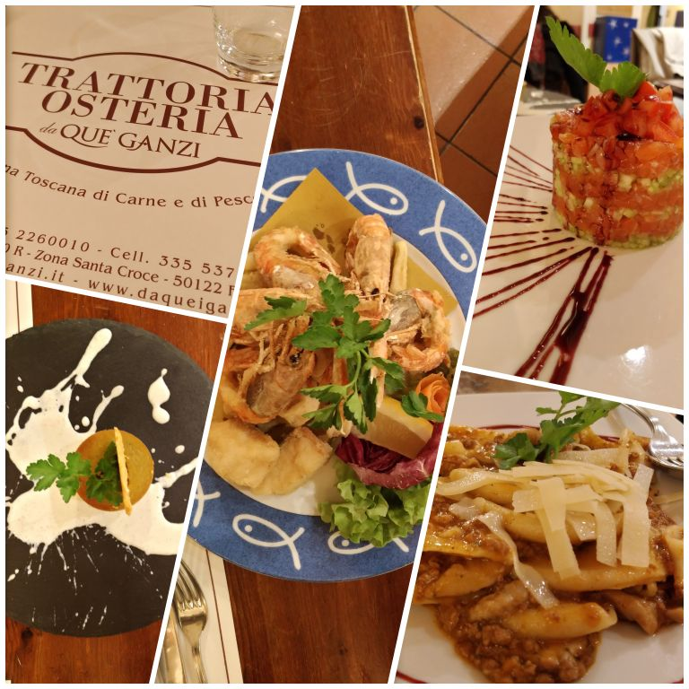 Trattoria Osteria Da Que' Ganzi: massas, carnes e frutos do mar no cardápio
