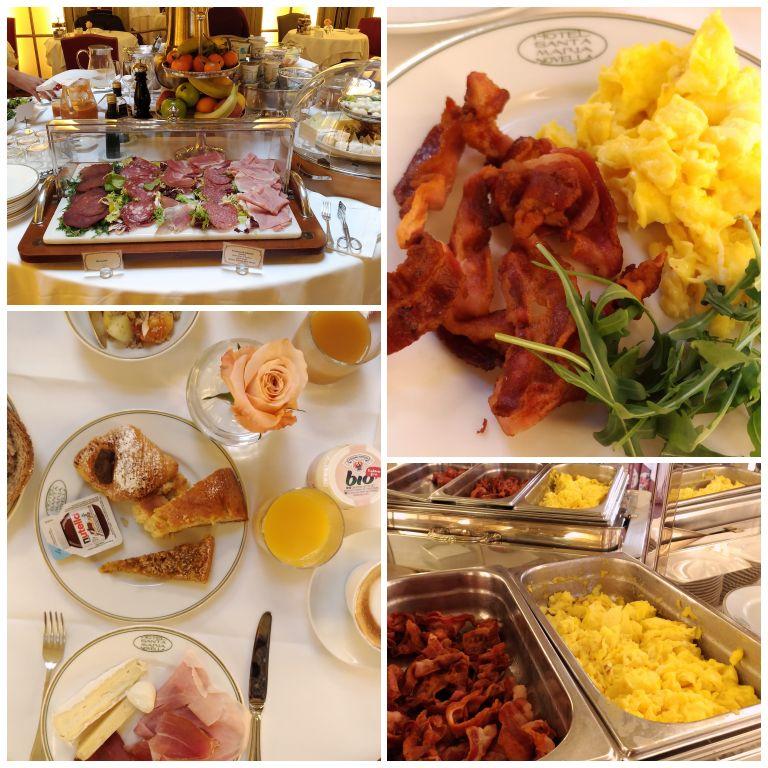 Café da manhã do Hotel Santa Maria Novella