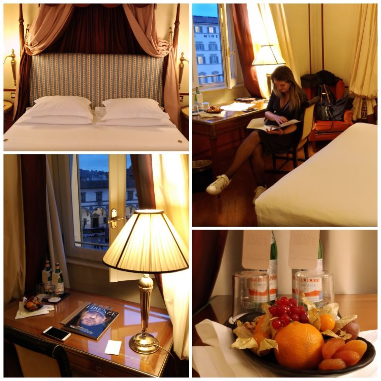 Nosso quarto no Hotel Santa Maria Novella em Florença