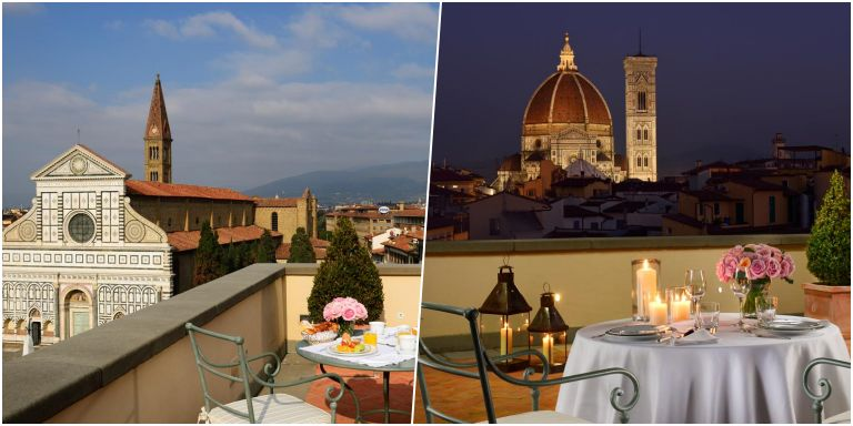 Vista do terraço do Hotel Santa Maria Novella