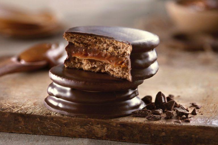 Alfajor Argentino: cobertura de chocolate