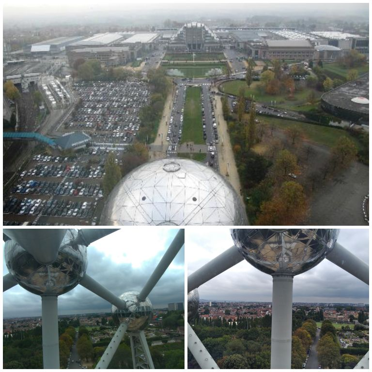Vistas de dentro da estrutura do Atomium
