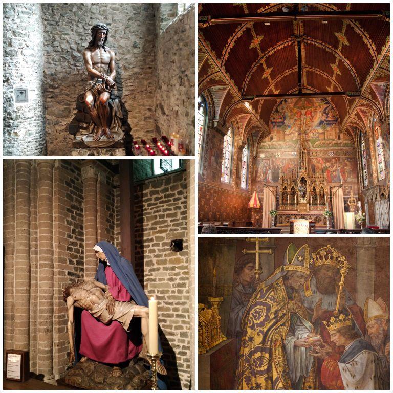 Detalhes internos da Basílica do Sangue Sagrado em Bruges