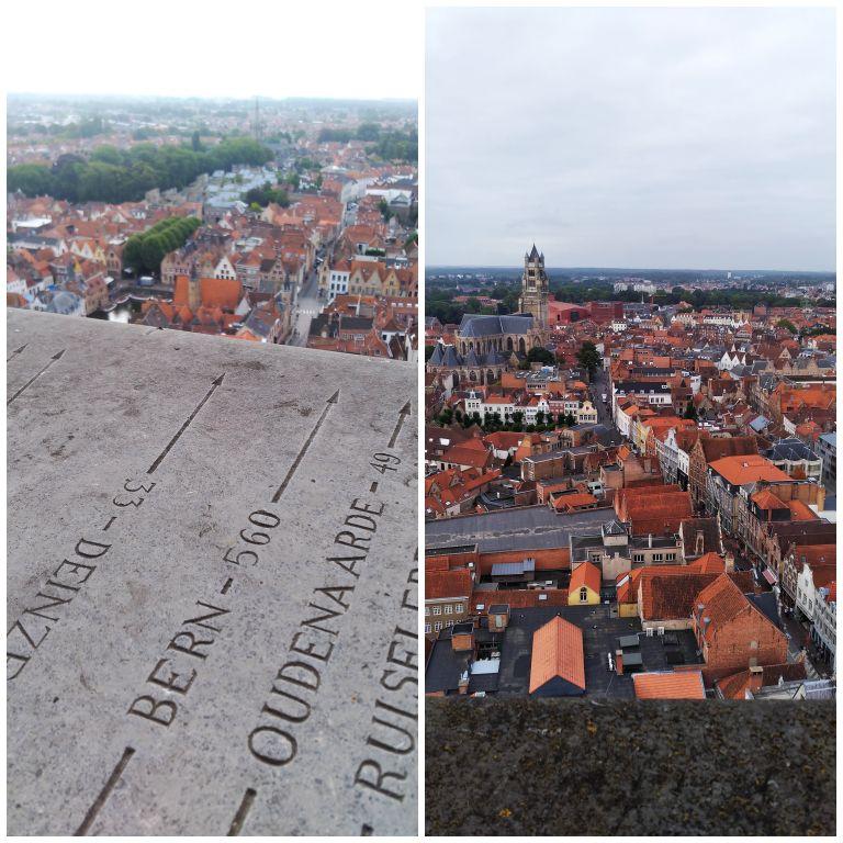 Vista do Campanário de Bruges