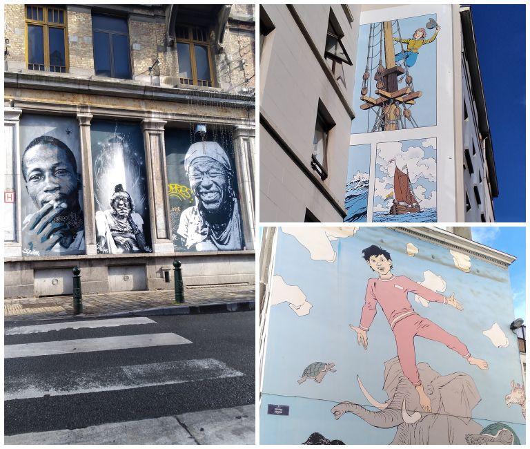 Painéis incríveis de arte de rua por Bruxelas