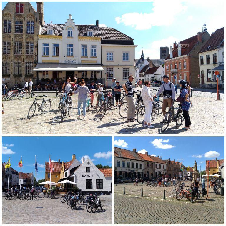 Markt, a praça principal de Damme