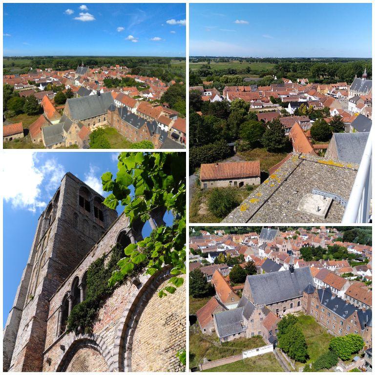 Torre da Igreja de Damme e a vista de cima