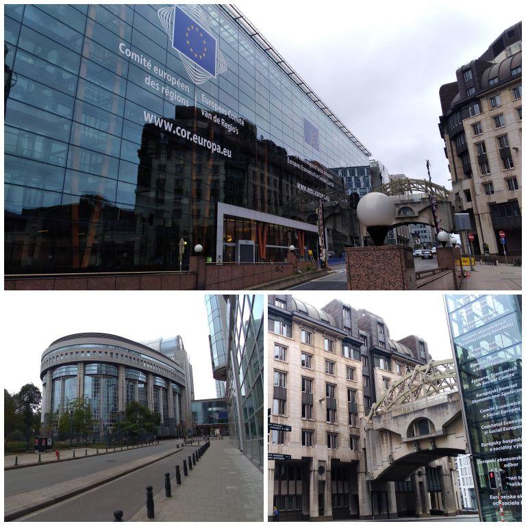 Prédios das Comissões Europeias e do Parlamento no distrito Europeu