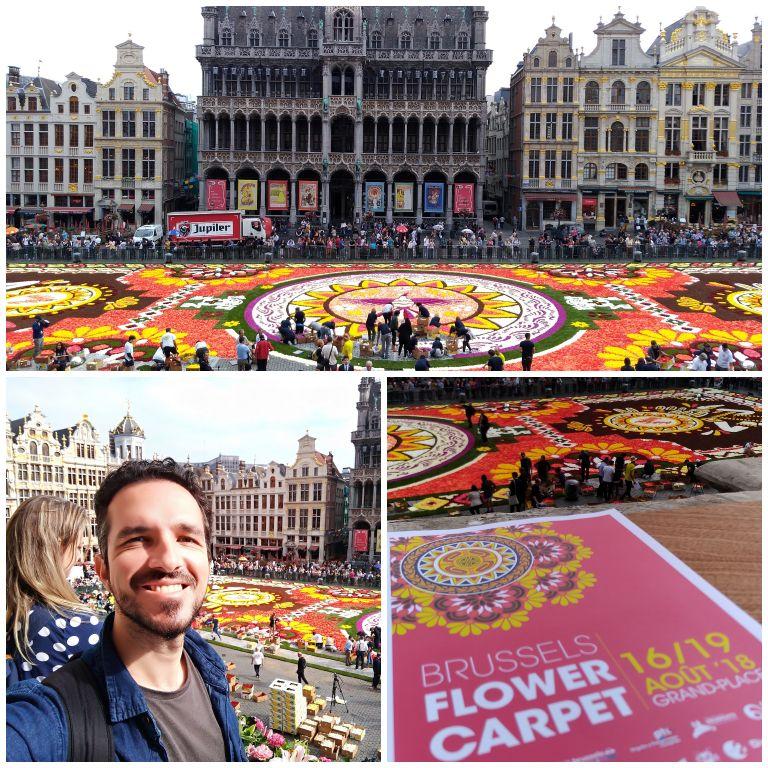 Tapete de Flores visto da sacada do edifício da Prefeitura de Bruxelas
