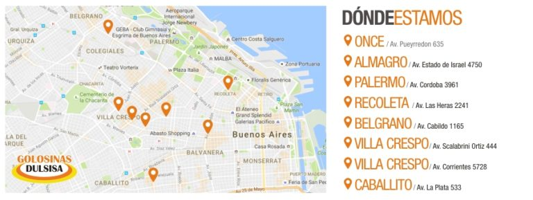 Lojas Dulsisa em Buenos Aires