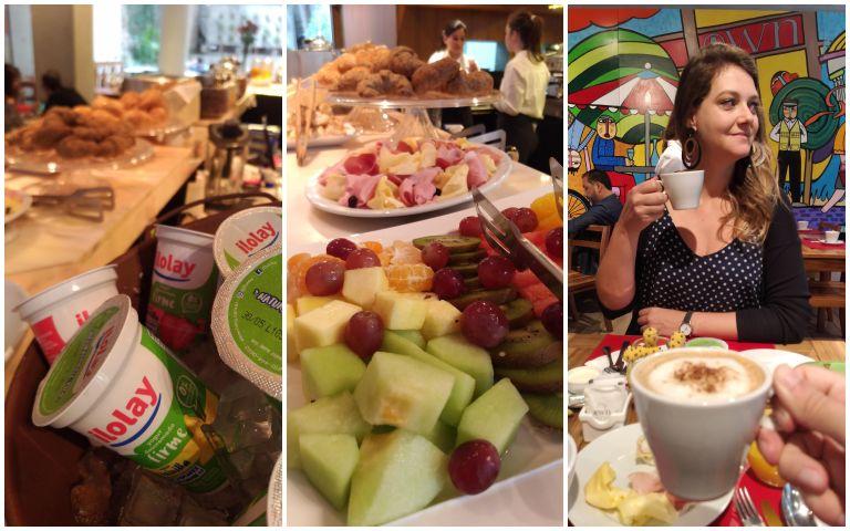 Buffet de café da manhã dos hotéis Own em Buenos Aires
